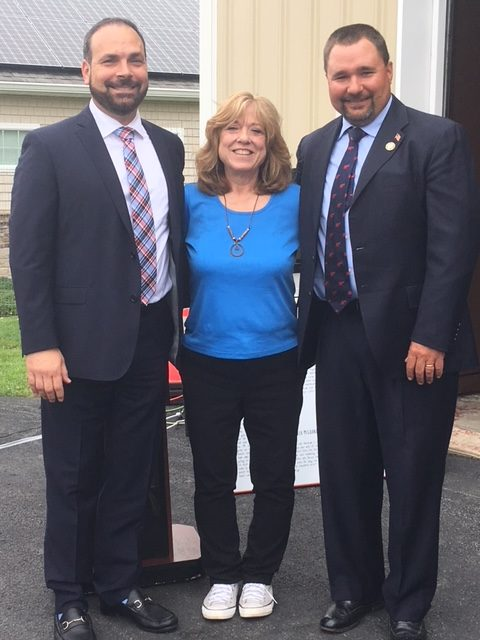 WVCSD Superintendent Dr. Leach, WAMC Exec Director Kathy Brieger, and Town Councilman Russell Kowal