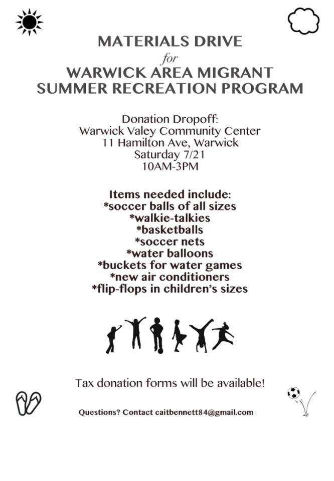 WAMC Summer Enrichment Program - Needed Donation Items