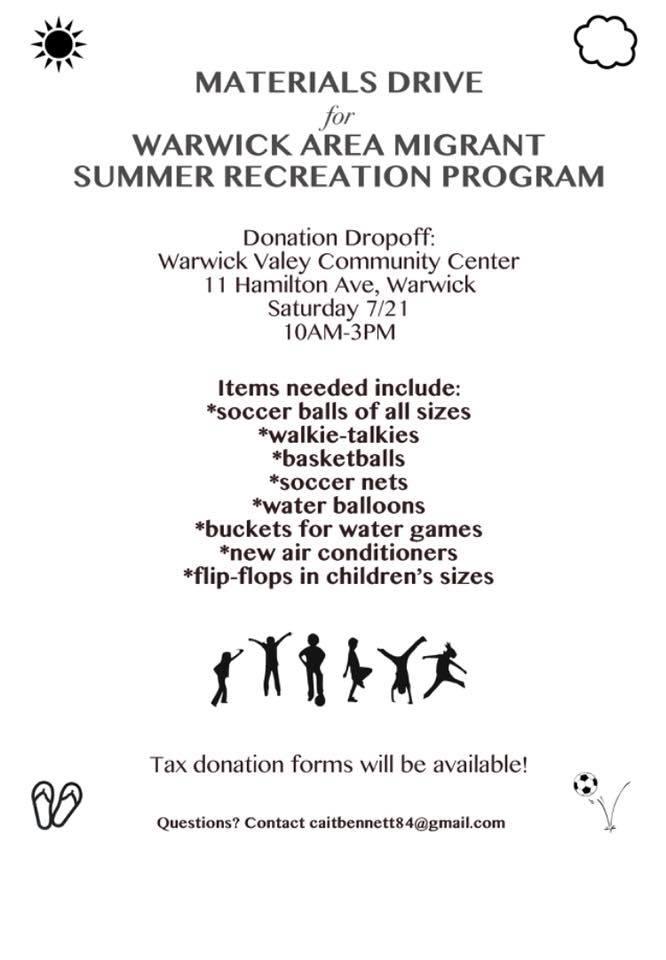 WAMC Summer Enrichment Program - Needed Donation Items