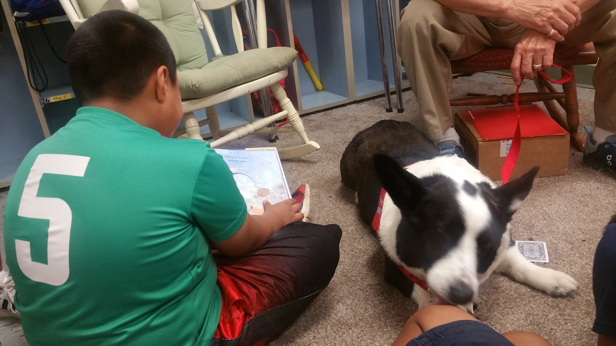 WAMC Students Read Each Week to Owen the Dog!