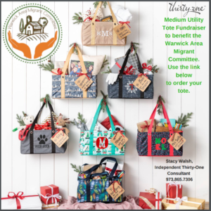 The Warwick Area Migrant Committee Thirty-One Tote Fundraiser is here!