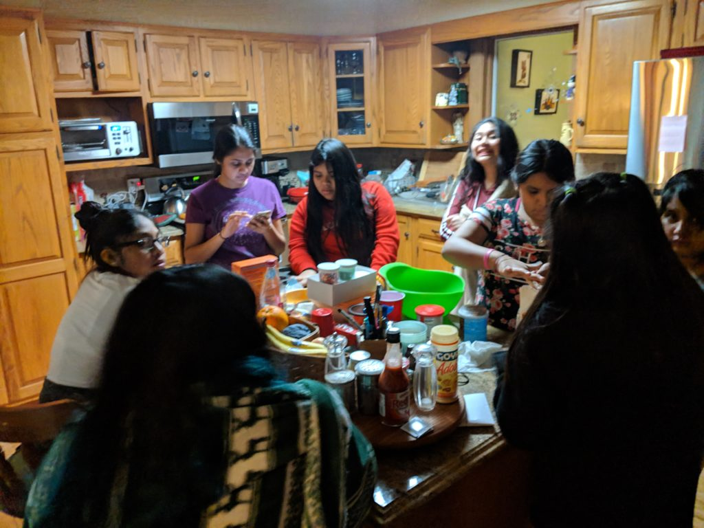 WAMC holds special pizza and cupcake Winter Party with the WAMC students.
