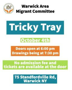 WAMC Tricky Tray Fundraiser - 10/4/16 at 6p St. Stephens RC Church