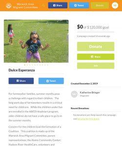 Giving Tuesday - Dulce Esperanza GoFundMe Fundraiser