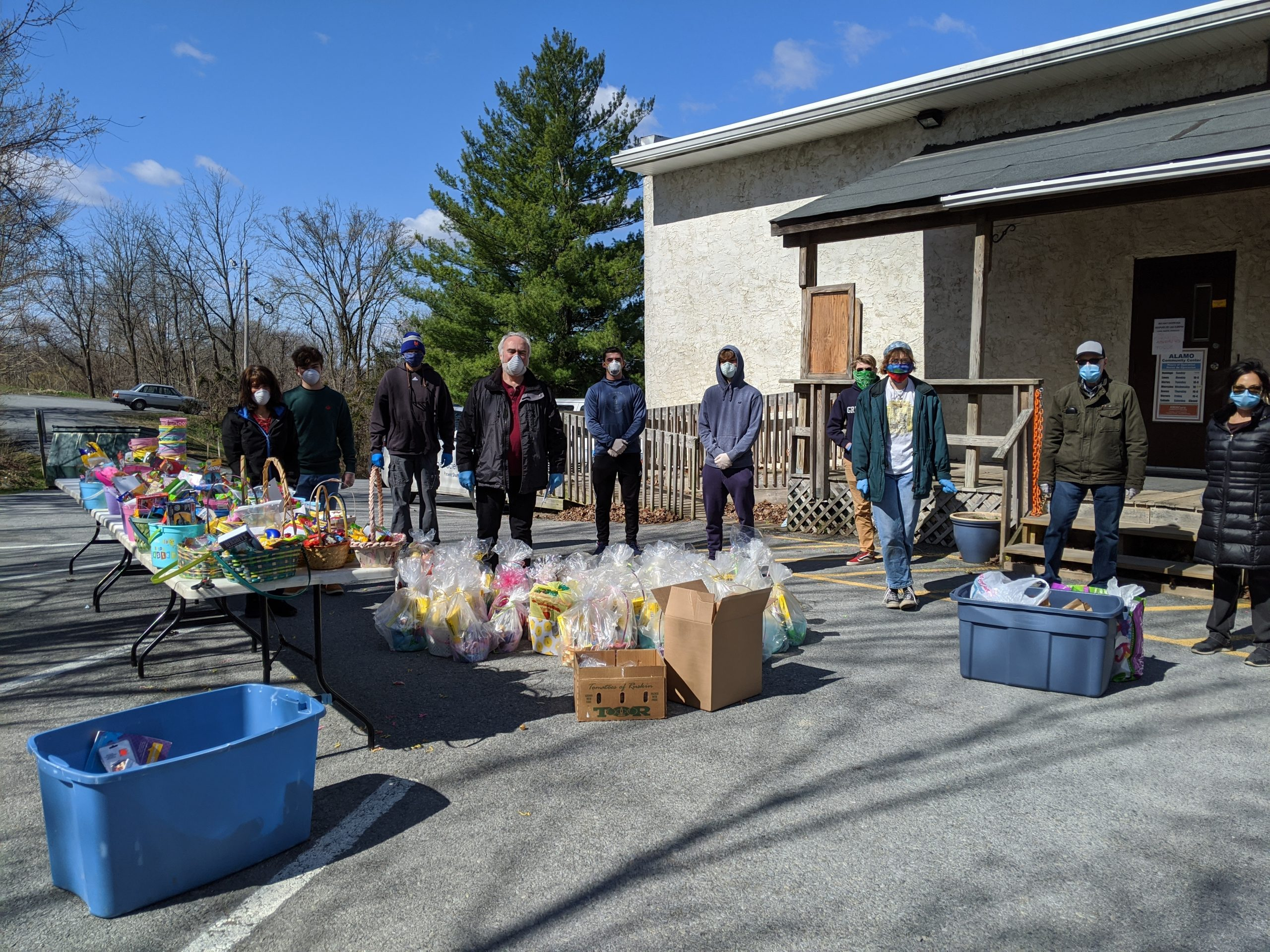 The WAMC delivered 120 Easter Baskets last weekend!